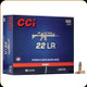 CCI - 22 LR - 40 Gr - AR Tactical - Copper Plated Round Nose - 300ct - 0956
