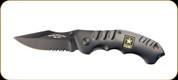 "US Army - Liner Lock Knife - 3.1"" Blade - 400 Series Steel/Titanium Coated - Black"