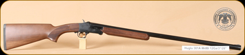 "Huglu - 12Ga/3""/28"" - 301A - Single Shot - Turkish Walnut/Blued Barrel/Black Receiver, 5pc. Mobile choke"