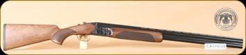 """Huglu - 12Ga/3""""/28"""" - 103DE - Wd/Bl, case colored receiver, mobile choke, SKU# 8681715391205, S/N CA170122"""
