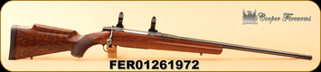 "Used - Cooper - 338-06 - M52 - Jackson Game, Walnut/Case colored/engraved receiver/Blued, Engraved trigger guard & 2 engraved, case colored magazines, 24"", brass and dies"