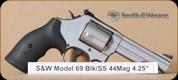 "S&W - 44Mag - Model 69 - BlkSyn/SS, DA/SA, 4.25"" - Mfg# 162069"