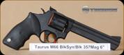 """Taurus - 357Mag - 66 - BlkSyn/MatteBlk, 6"""""""