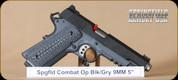 """Springfield - 9MM - 1911 - Combat Operator, Lipsey's Exclusive, Blk/Grey, G10 Grips, 5"""""""