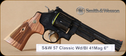 "S&W - 41Mag - Model 57 - Classic, Wd/Bl, 6"""