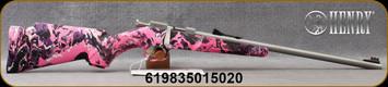 "Henry - 22LR - Mini Bolt - Single Shot Bolt Action Rifle - Muddy Girl Synthetic Stock/Stainless Steel, 16.25""Barrel, Mfg#H005MG"