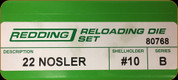 Redding - Full Length Sets - 22 Nosler - 80768