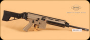 "German Sport Guns - GSG-15 - 22lr - Standard Tan, 16.5"" Bbl, c/w Flip up sights, 22 round magazine"