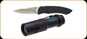 "Browning - Pro Hunter Combo - 2"" Blade - Flashlight - Light Blue Decal"