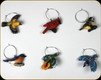 Wine Charm Assortment - Birds 6pc Set
