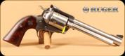 "Ruger - 454Casull - New Model Super Blackhawk Bisley - Single Action Revolver - Bisley-Style Hardwood Grips/Stainless, 6.5""Barrel - Mfg# 00871"