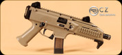 "CZ - 9mm - Scorpion EVO 3 S1 Pistol - FDE Syn, Iron Sights, 7.72"" (Restricted)"