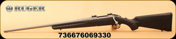 "Ruger - 22-250REM - American All-Weather Bolt Action Rifle , 22"" Bbl, LH - Left Hand, Matte Stainless Steel, Black Syn, No Sights, Mfg# 06933"
