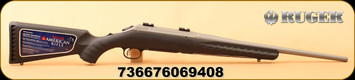 "Ruger - 308WIN - 6940 American All-Weather Bolt Action Rifle , 18"" Bbl LH - Left Hand, Matte Stainless Steel, Black Syn, No Sights, Mfg# 06940"