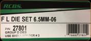 RCBS - Full Length Die Set - 6.5mm-06 - 27801