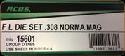 RCBS - Full Length Dies - 308 Norma Mag - 15601