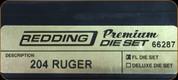 Redding - Premium Full Length Die Set - 204 Ruger - 66287