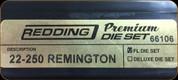 Redding - Premium Full Length Die Set - 22-250 Remington - 66106