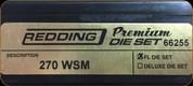 Redding - Premium Full Length Die Set - 270 WSM - 66255
