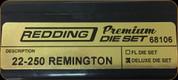Redding - Premium Deluxe Die Set - 22-250 Remington - 68106