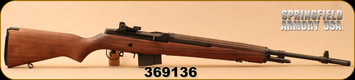 "Used - Springfield Armory - 308Win - M1A National Match Rifle - Semi-Auto - Glass Bedded Match Grade American Walnut Stock/Matte Black, 22"" Air Gauged Match Med.Weight Carbon Barrel, NA9102 - In original hard plastic Plano 'Protector' case & box"