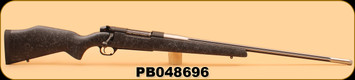 "Consign - Weatherby - 338-378WbyMag - Mark V - Accumark - Black Composite w/spiderweb accents/Stainless, Fluted, 28"" #3 Contour, 1:10"" Twist - Unfired, In Box"