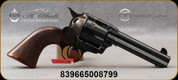 """Taylor's & Co - Uberti - 45LC - 1873 Cattleman Runnin Iron - Single-Action Revolver - Checkered One-Piece Walnut Grip/Case Hardened Frame/Blued finish, 4.75""""Barrel, Fixed Front Blade, Rear Frame Notch sights, Mfg# 4203"""