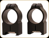 "Warne - Maxima Series - Steel Rings - 1"" - High - Black Matte - 202M"