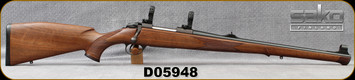 "Consign - Sako - 308WIn - Bavarian Carbine - Bolt Action - Walnut Mannlicher Stock/Blued, 20""Barrel, Only test fired - c/w 30mm Sako Rings & Bases"