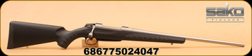 """Sako - 270Win - A7 Soft Touch Synthetic Stainless - Bolt Action Rifle - Black Synthetic w/Soft Touch Surfaces/Stainless Steel, 22.4""""Barrel, single-stage adjustable trigger, Mfg# JRA7S18"""