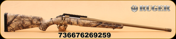 "Ruger - 6.5 Creedmoor - American - Go Wild Camo I-M Brush/Burnt Bronze Cerakote, 22""Threaded Barrel, Mfg# 26925"