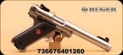 """Ruger - Mark IV - 22LR - Target - BlkSyn/SS, 5.5"""" Threaded Bull Barrel"""