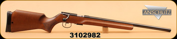 "Anschutz - 17HMR - 1517 Sporter Benchrest - Item 013347, Wd/Bl, 22"""