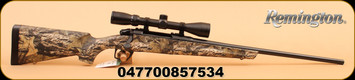 "Remington - 30-06SPRG - Model 783 - Mossy Oak Break Up Country synthetic stock/Bl, 22"", Crossfire adjustable trigger c/w 3-9x40 Scope"