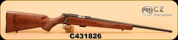 """CZ - 22LR/17HMR - 455 American Combo- Walnut/Bl, 20.5"""", S/N C431826 & C431826A(17HMR bbl)"""
