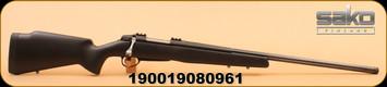 "Sako - 6.5 Creedmoor - A7 Roughtech Range - Black Copolymer/Black Fluted, Threaded 26"" Barrel"