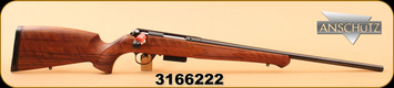 "Anschutz - 223Rem - 1771D - Walnut German Stock/Bl, 22"", Item #013668"