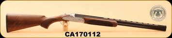 """Huglu - 103F - 28Ga/2.75""""/26"""", O/U, Turkish Walnut/Bl/Engraved birds on silver receiver, M.Choke"""