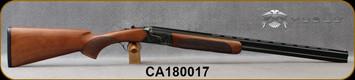 "Consign - Huglu - 28Ga/2.75""/26"" - 103D - O/U, Turkish Walnut/Case Hardened Receiver/Chrome-Lined Barrels, 5pcs. Mobile Choke, S/N CA180017 - Only 150 rounds fired - In original case w/chokes & manual"
