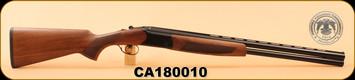 "Huglu - 12Ga/3""/26"" - Hawk - Turkish Walnut/Blued/Black Receiver, O/U, M.Choke, SKU# 8681744307499, S/N CA180010"