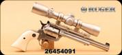 "Consign - Ruger - 17HMR - Single-Six Hunter - Poly grips/SS, 7.5"", c/w Burris Handgun 2-7x32mm, Duplex"