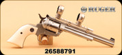 """Consign - Ruger - 22WMR/22LR - Single-Six Hunter - Poly grips/SS, 7.5"""", c/w WEIG-A-TINNY® rail, 1"""" rings, original case"""