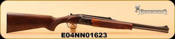 "Used - Browning - 8x57JRS - SA Express Rifle - CS525 European Custom - Wd/Engraved Receiver/Bl, 22"", O/U, c/w fit case"