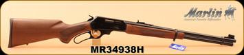 "Marlin - 30-30Win - 336C30 - Walnut Stock/Blued Finish, 20""Micro-Groove barrel, Adjustable Semi-Buckhorn Sights, S/N MR34938H"