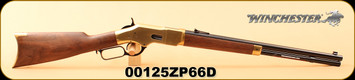 "Winchester - 44-40Win - 1866 Short - Yellow Boy - Grade I American Black Walnut/Blued Finish/Brass Receiver/Butt Plate, 20"", Folding rear sight, Gold Bead front sight, S/N 00125ZP66D"