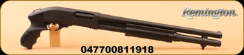 """Remington - 12Ga/3""""/18.5"""" - 870 Express Tactical - Pump Action - Black Synthetic/ Blasted Black Oxide finish, Parkerized Cyl Bore, Pistol Grip Stock with 2 shot ext. Mfg# 81191"""