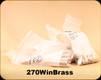Used - Assorted 270Win Brass - Primed/Unprimed - 211 count