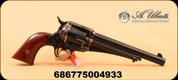 "Uberti - 357Mag - 1875 Army Outlaw - Walnut Grips/Casted steel and color case frame/Forged Steel, 7.5"" Barrel, Fluted Cylinder"