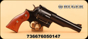 """Ruger - 44RemMag - Redhawk - Lew Horton Exclusive - Rosewood Grips/Blued Finish, 5.5"""" Barrel, Single/double-action, 6 Rounds"""