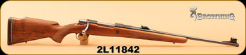 "Used - Browning - 308 - Safari - Mauser Action - Wd/Bl Custom Engraved w/SS Bolt, 22""Barrel, made in Belgium - c/w Leupold M8 4x scope, Duplex Reticle"